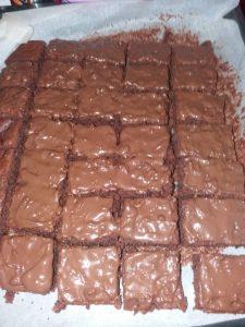Prajitura Negresa cu nuci si ciocolata