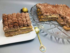 Tort Tiramisu cu crema de ciocolata