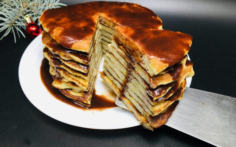Banana Pancakes cu ciocolata